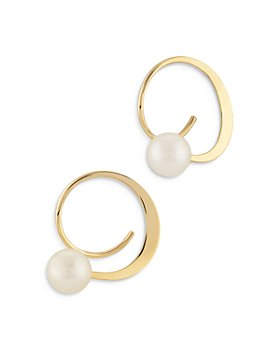 Moon & Meadow - 14K Yellow Gold Cuff Earrings with Cultured Freshwater Pearl - 100% Exclusive