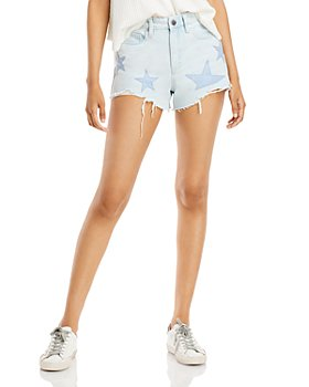 BLANKNYC - Frayed Hem Jean Shorts in Sign Your Name