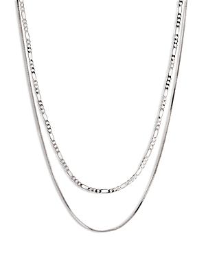 Cecilia Layered Chain Necklace in Silver Tone