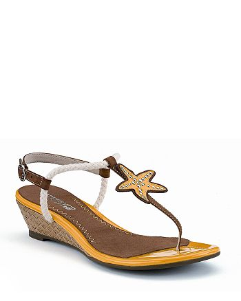 "Sperry - ""Delray"" Starfish Wedge Sandals"