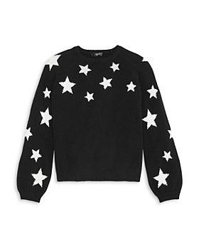 AQUA - Girls' Cashmere Star Sweater, Big Kid - 100% Exclusive
