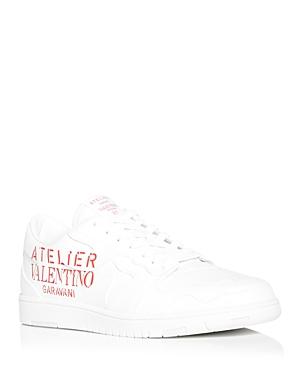 Valentino Garavani Men's Atelier Logo Low Top Sneakers
