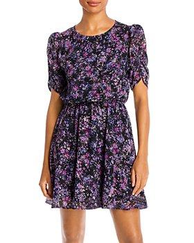 AQUA - Floral Print Dress - 100% Exclusive