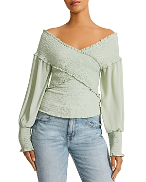 Smock & Fire Ruched Long Sleeve Top