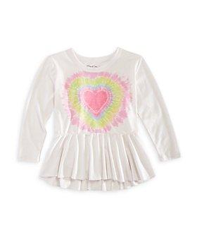 CHASER - Girls' Heart Flutter Long Sleeve Tee - Little Kid