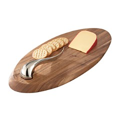 "Nambé - ""Swoop"" Cheese Board & Knife"