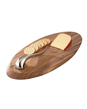 Nambé - Swoop Cheese Board & Knife