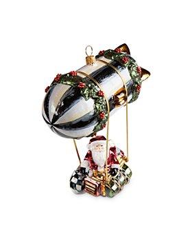 Mackenzie-Childs - Zeppelin Santa Glass Ornament