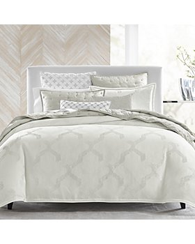 Hudson Park Collection - Textured Lattice Bedding Collection - 100% Exclusive