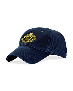 Balenciaga Logo Crest Distressed Baseball Cap