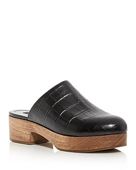 AQUA - Women's Croc Embossed Clogs - 100% Exclusive