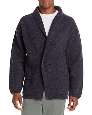 Wool & Cashmere Donegal Fleck Dropped Shoulder Knit Sweater Jacket