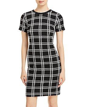 KARL LAGERFELD PARIS - Plaid Sheath Dress