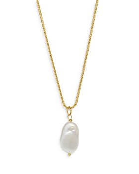 """Degs & Sal - Freshwater Pearl Necklace in 14K Gold Plated Sterling Silver, 24"""""""