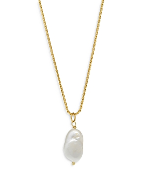 Freshwater Pearl Necklace in 14K Gold Plated Sterling Silver