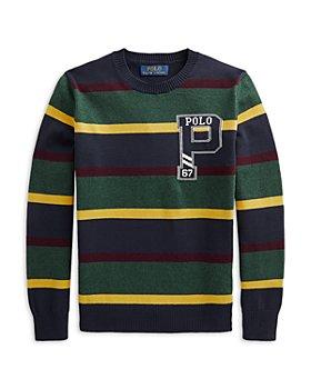 Ralph Lauren - Boys' Cotton Striped Collegiate Sweater - Little Kid, Big Kid