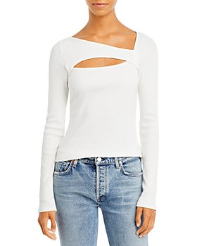 Citizens of Humanity - Iris Ribbed Cutout Neck Top