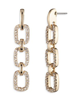 Ralph Lauren - Crystal Link Drop Earrings
