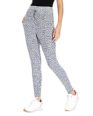 Brushed Cheetah Print Jogger Pants