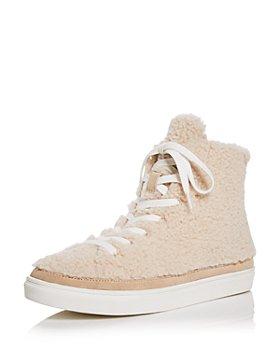 AQUA - Women's Teddy High Top Sneakers