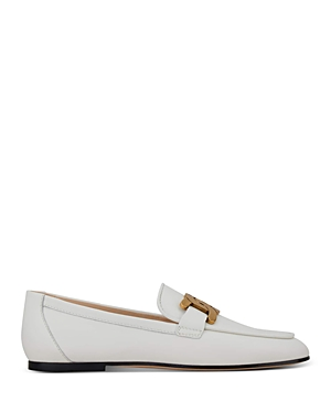 Tod's Women's Kate Almond Toe Leather Loafers