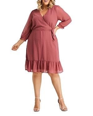 Estelle Plus Tilly Clip Dot Wrap Style Dress
