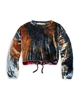 Vintage Havana - Girls' Tie Dye Velvet Sweatshirt - Big Kid