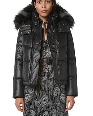 Minna Hooded Faux Fur Trim Puffer Coat
