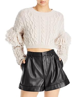 Kala Fringe Cable Knit Sweater