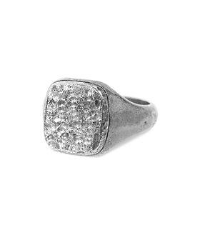 John Varvatos Collection - Men's Sterling Silver Artisan Distressed Signet Ring