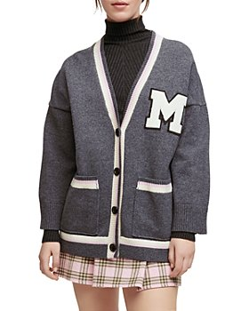Maje - Maissa Oversized Varsity Cardigan