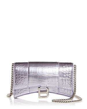 Balenciaga Hourglass Leather Chain Wallet