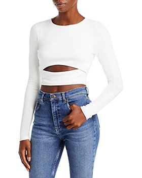 FORE - Cutout Long Sleeve Crop Top