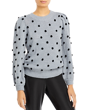 Cliche Pom Pom Puff Sleeve Sweater (59% off)