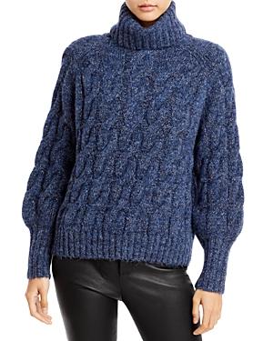 Cliche Lurex Cable Turtleneck Sweater (62% off)