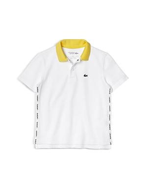 Lacoste Boys' Cotton Polo Shirt - Little Kid, Big Kid In White