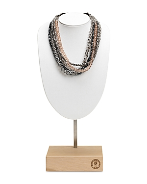 Peserico Bijoux Multicolor Crystal Choker Necklace, 20.87