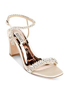Badgley Mischka - Women's Marilee Embellished Mid Heel Sandals