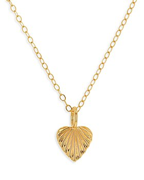 """Moon & Meadow - 14K Yellow Gold Heart Pendant Necklace, 17"""""""
