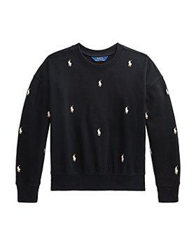 Ralph Lauren - Girls' Embroidered Pony Sweatshirt - Little Kid, Big Kid