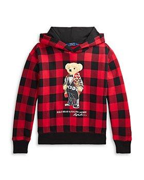 Ralph Lauren - Girls' Polo Bear Fleece Hoodie - Little Kid, Big Kid