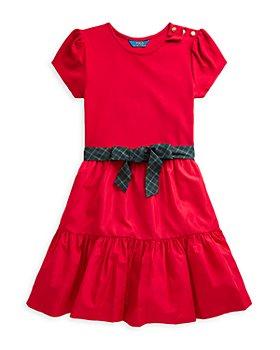Ralph Lauren - Girls' Tiered Stretch Dress - Little Kid, Big Kid