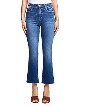 L'AGENCE - Kendra Crop Flare Jeans in Laredo