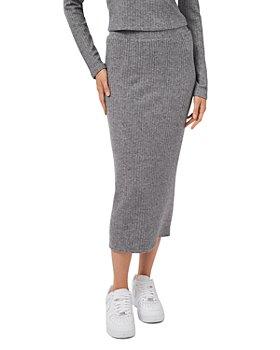 1.STATE - Rib Knit Midi Skirt
