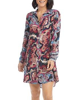 Karen Kane - Printed Shirt Dress
