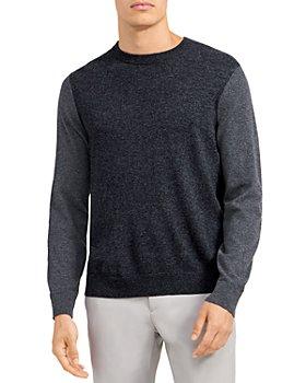 Theory - Milan Two Tone Crewneck Cashmere Sweater