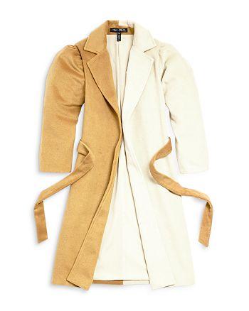 AQUA - Girls' Color Block Trench Coat, Big Kid - 100% Exclusive