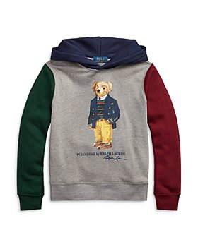 Ralph Lauren - Boys' Polo Bear Color Block Fleece Hoodie - Little Kid, Big Kid
