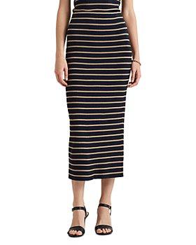 Ralph Lauren - Metallic Striped Pencil Skirt