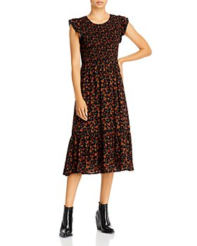 Lost and Wander - Claire Smocked Floral Midi Dress
